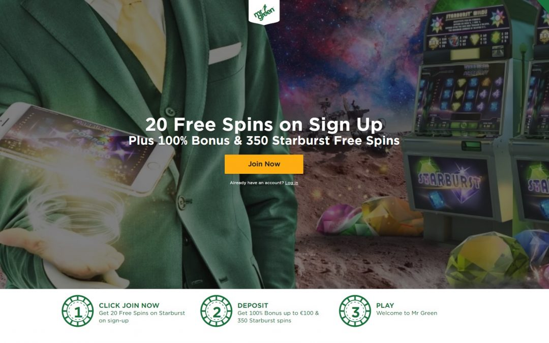 20 free spins mr green casino